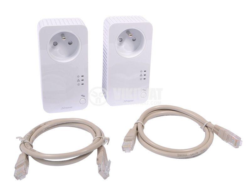 Комплект за мрежова връзка през електрическата мрежа 500Mbit/s, STRONG - 4