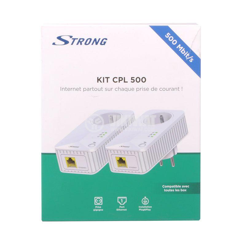 Комплект за мрежова връзка през електрическата мрежа 500Mbit/s, STRONG - 6