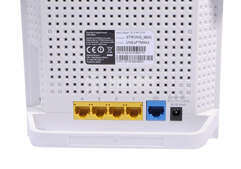 Dual band gigabit router 1200 Mbit / s STRONG - 5