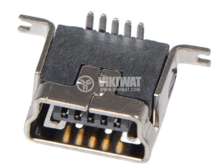Connector USB B mini female SMD - 2