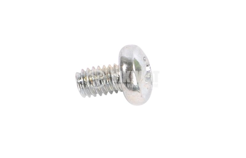 Screw, bolt M4x6mm, semi-round