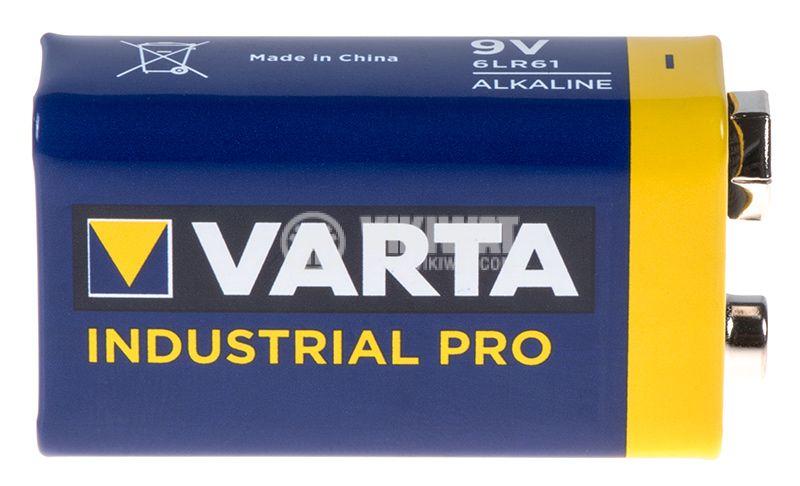 Alkaline battery 6F22, 9VDC, 550mAh, VARTA Industrial PRO  - 1
