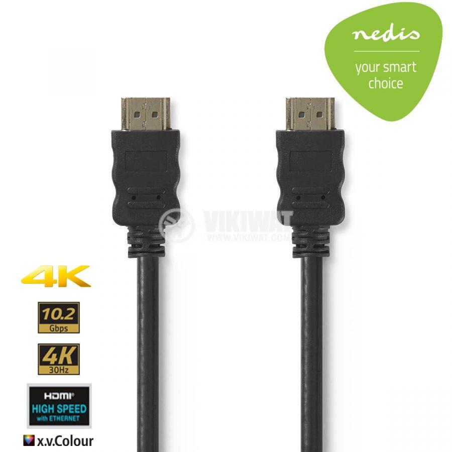Cable, HDMI/m-HDMI/m, 15m