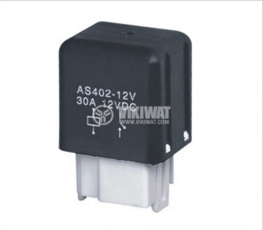 Електромагнитно автомобилно реле 12VDC/30A SPST - NO, AS402 - 1