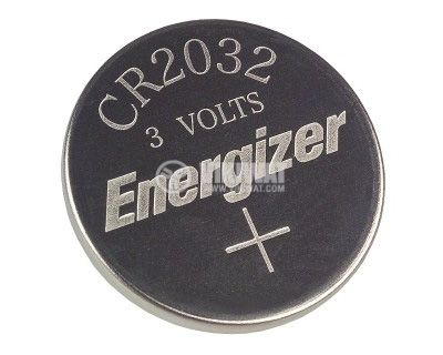 Button Cell Battery CR2032 3VDC, 240mAh, lithium - 2