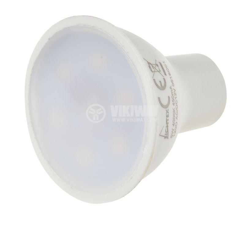 LED spotlight 5W, 12VDC, GU5.3, 4000K, natural white - 3