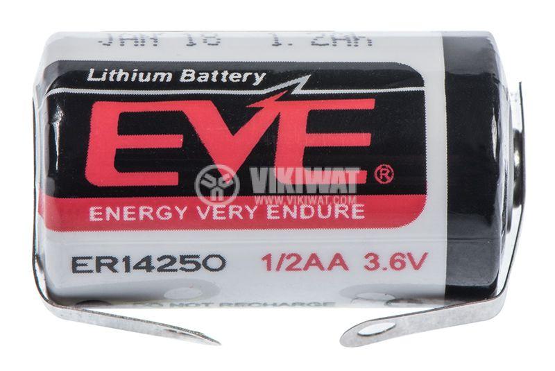 Battery ER14250, 3.6VDC, 1200 mAh - 1