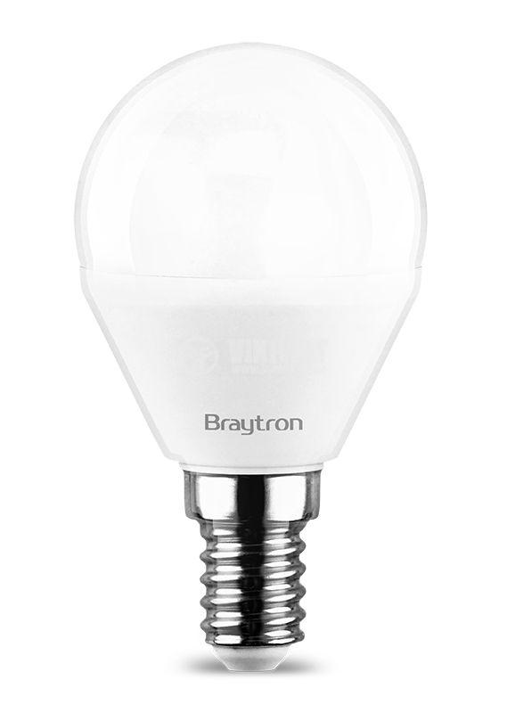 LED лампа 5W, E14, P45, 220VAC, 6500K, студено бяла, BA11-00513 - 3