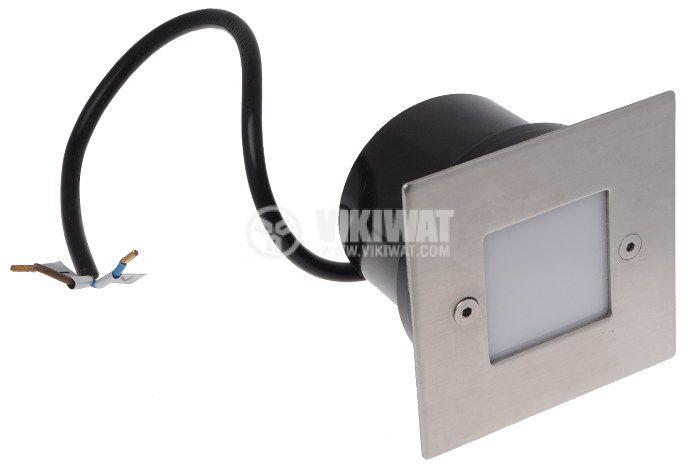 LED осветително тяло BT30-0120, 1W, 220-240VAC, IP54, 3000K, за вграждане