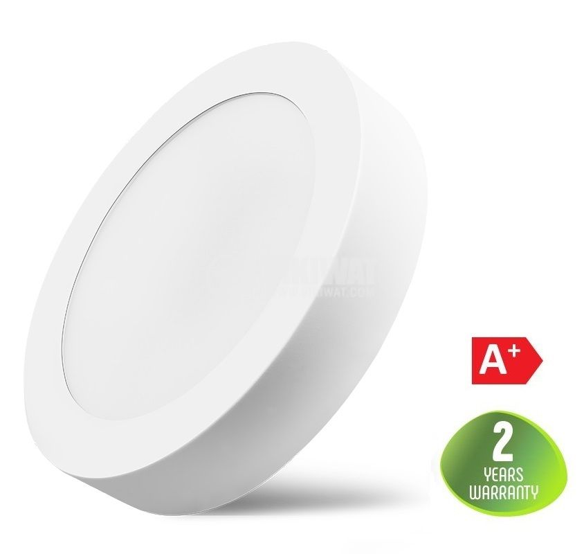 LED panel 18W, 220VAC, 1360lm, 4200K, neutral white, ф220mm, surface mounting, BP03-31810 - 1