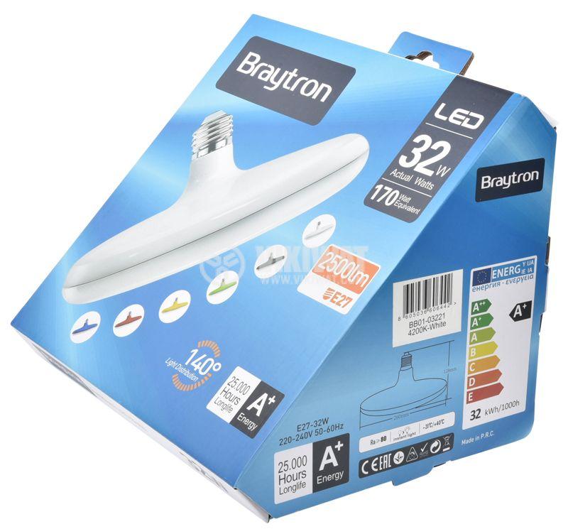 LED bulb 32W, E27, 2500lm, 4200K, natural white, BB01-03221 - 11