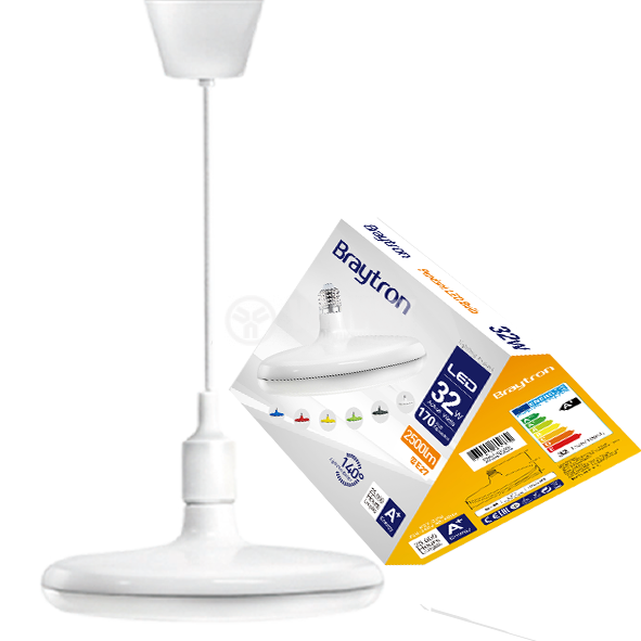 LED bulb UFO, 32W, E27, 2500lm, 4200K, natural white, BB01-03221, white body - 1