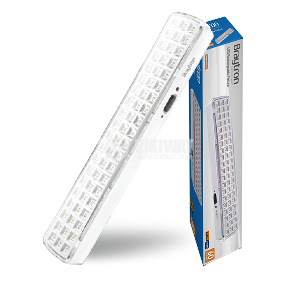 Emergency LED rechargeable lamp 4W, 220VAC, 6400K, cool white, BM60-60LEDs, BC01-00330 - 1