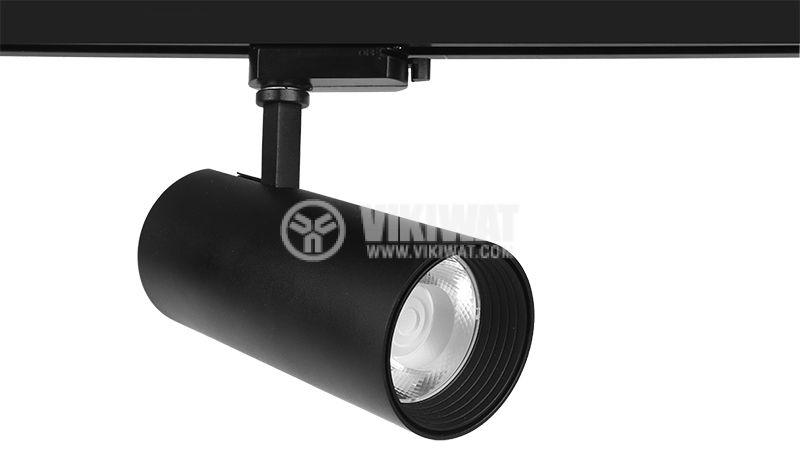 LED релсов прожектор BD30-01601, 30W, 3000K, 2350lm, топло бял - 1