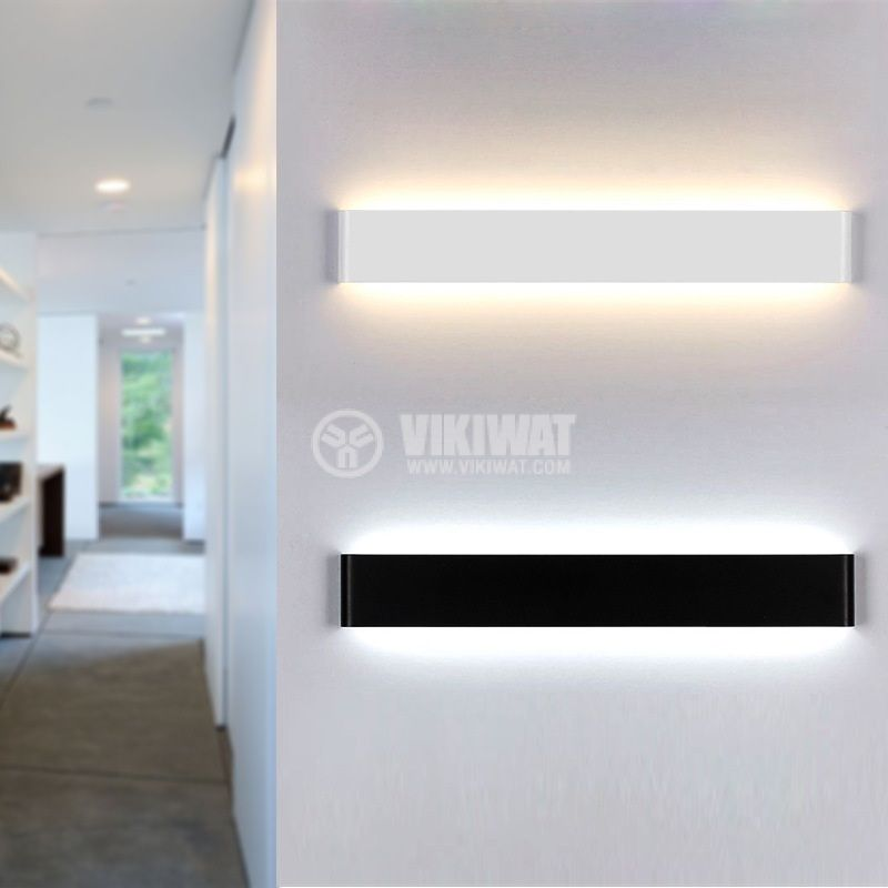 LED wall light, 12W, 220VAC, 600lm 3000K, warm white, IP20, non-waterproof, BH07-03300, white body - 3