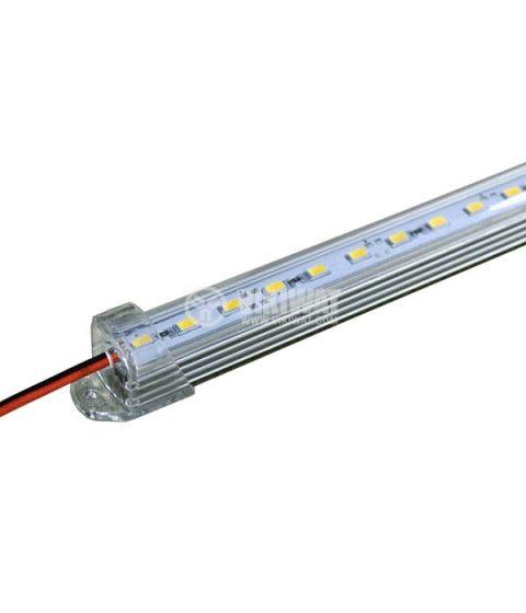 Алуминиев профил с LED лента, 14.4W, 12V, студено бял
