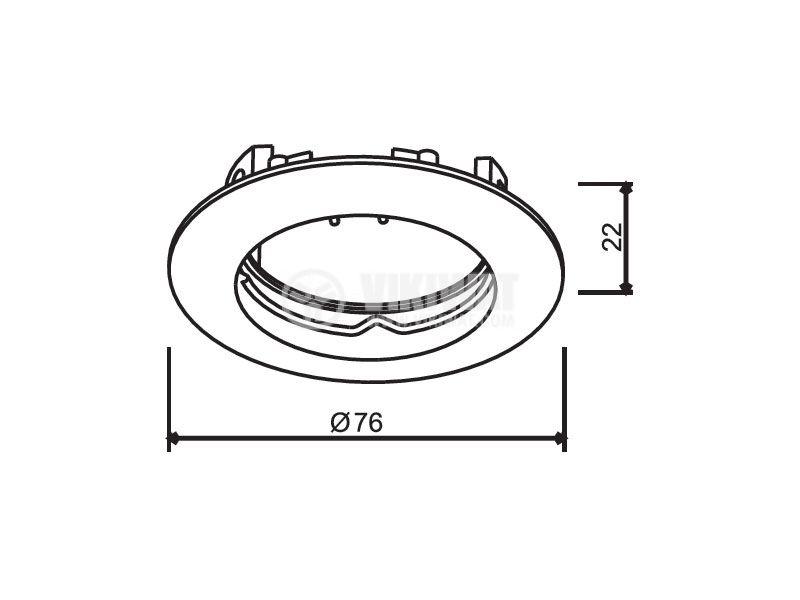 Арматура за вграждане BN12-0279 за халогенни и LED луни, хром, GU5.3 - 3