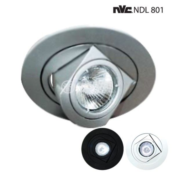 Halogen Spot Light Fitting, silver, NDL801 - 1