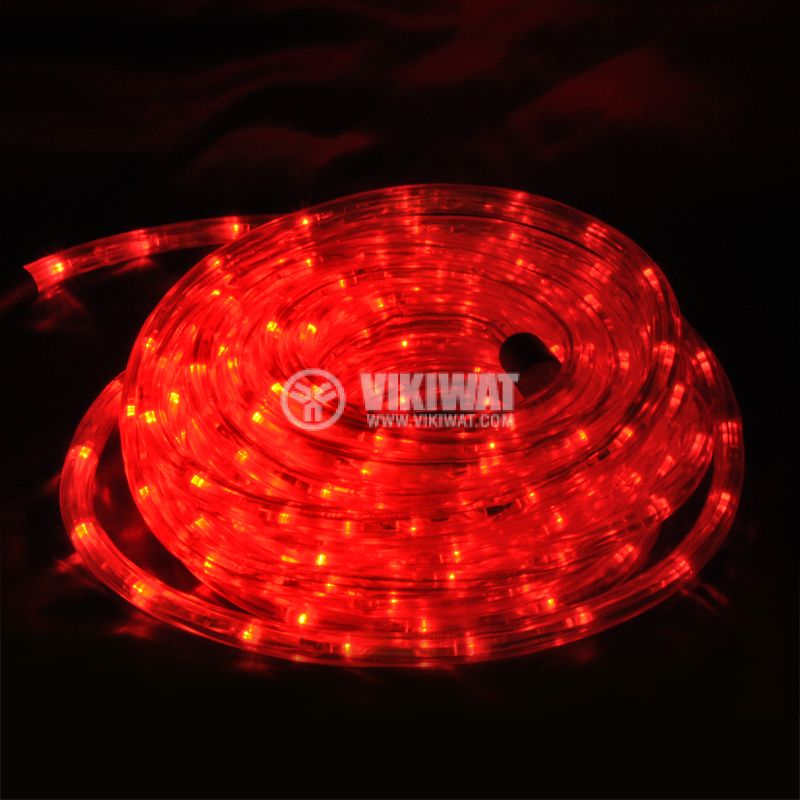 LED hose, red, 24LED / m, 10m, 19.2Wmax, 220VAC, IP44, waterproof - 1