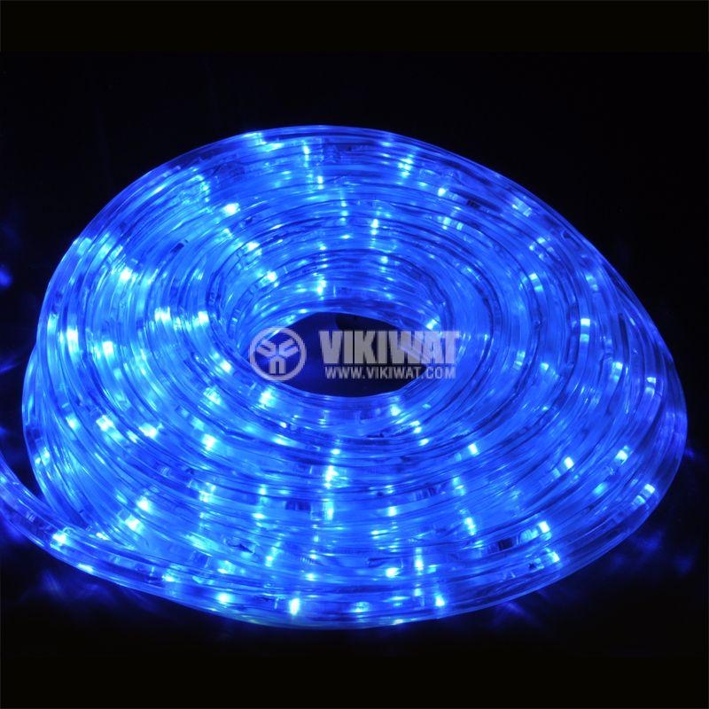 LED hose, blue, 24LED/m, 10m, 19.2Wmax, 220VAC, IP44, waterproof - 1