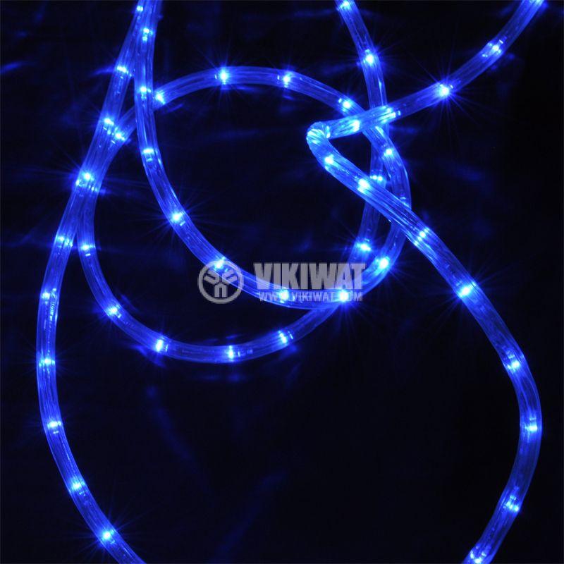 LED hose, blue, 24LED/m, 10m, 19.2Wmax, 220VAC, IP44, waterproof - 4