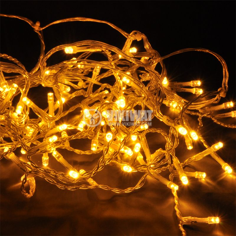 LED Christmas Lights Type Curtain, 2x1.5m, 195W, Warm White, IP20