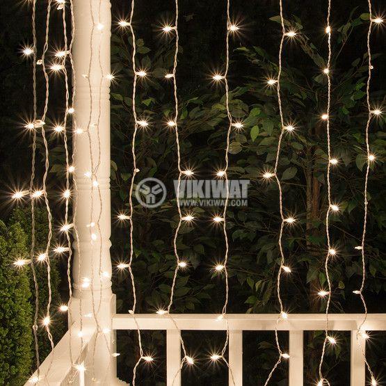 LED christmas lights type curtain, 1.5x2m, 35W, warm white, IP44, 300 LEDs - 4