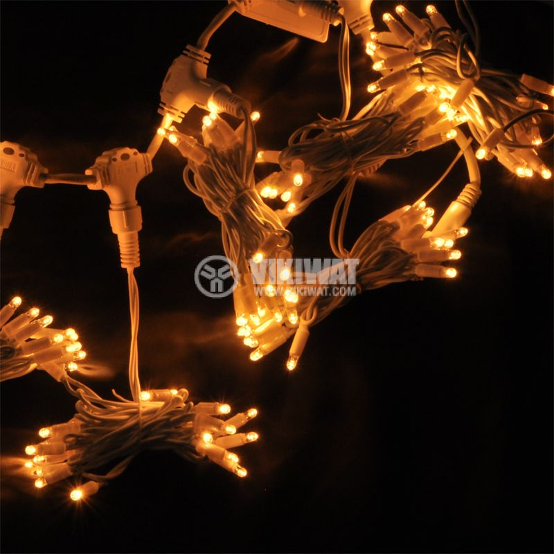 LED christmas lights type curtain, 1.5x2m, 35W, warm white, IP44, 300 LEDs - 5