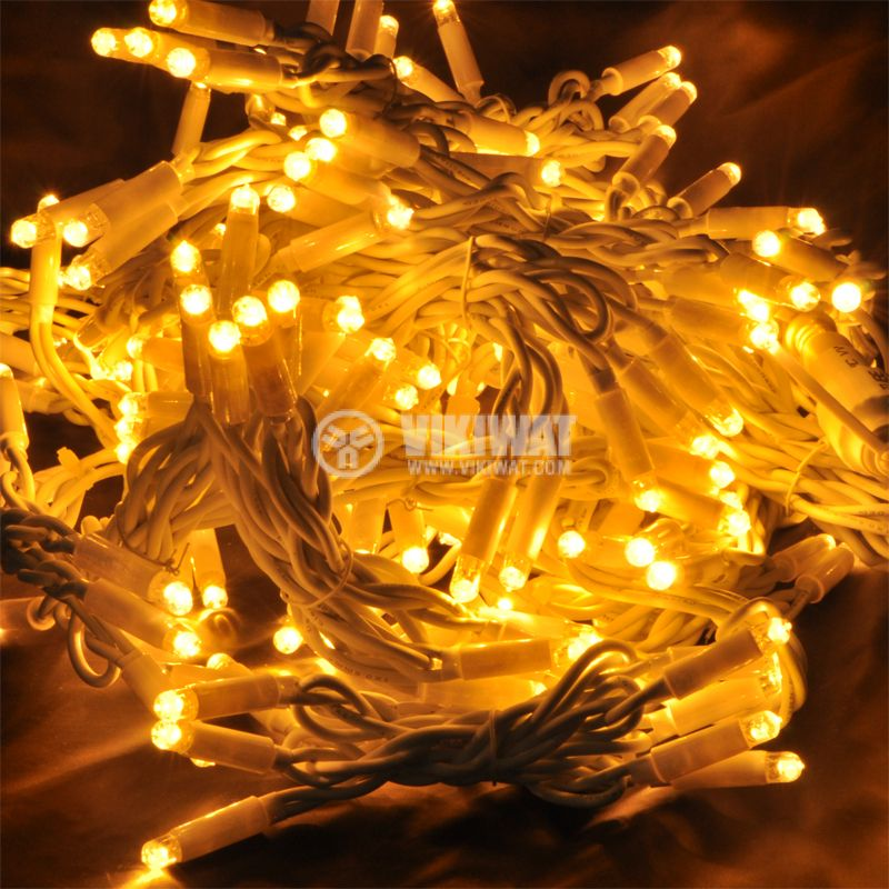 LED christmas lights type curtain, 1.5x2m, 35W, warm white, IP44, 300 LEDs - 1