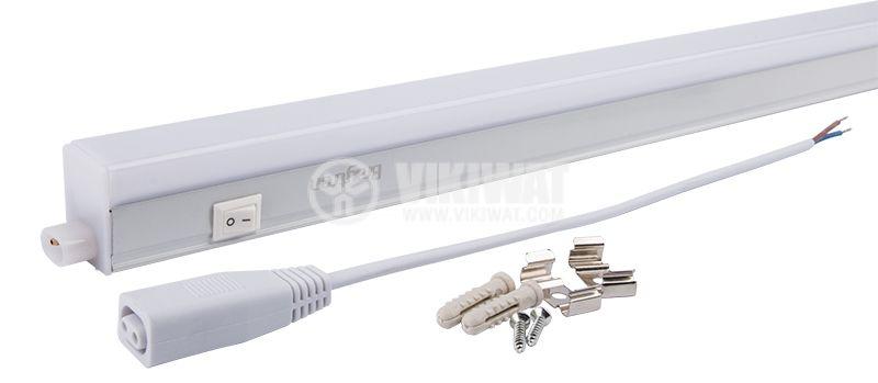 LED лампа за стена 7W, LEDLINE, 220VAC, 560lm, 3000K, топлобяла, 543mm, BN10-00700 - 3