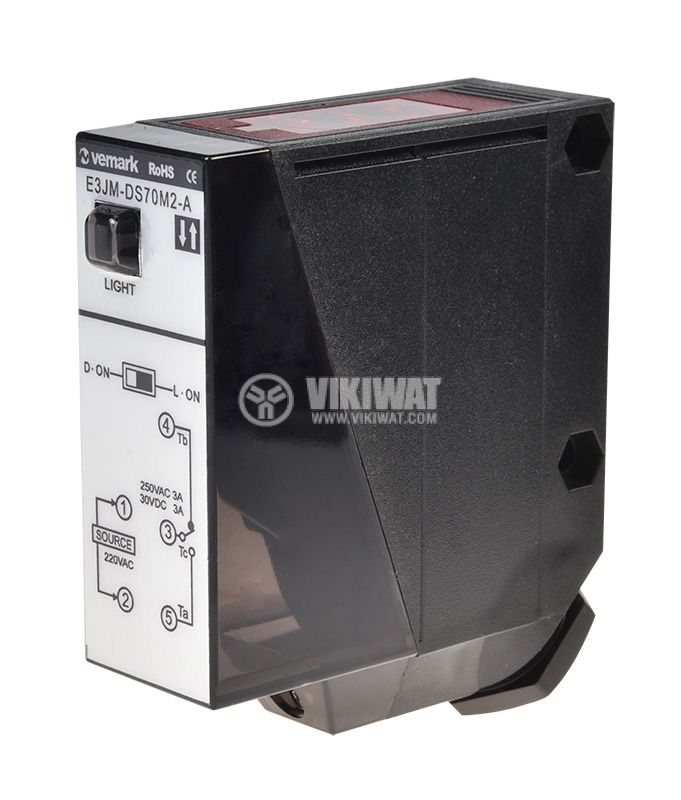 Optoelectronic Switch E3JM-DS70M2-A PNP NC + NO diffuse 220VAC range 0-700mm plastic - 1