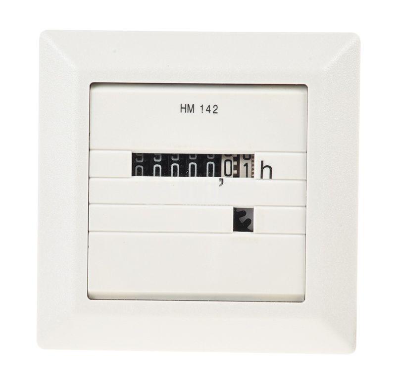 Electromechanical Hour Counter , HM142, 10-80 VDC, 0-99 999.99 h - 1