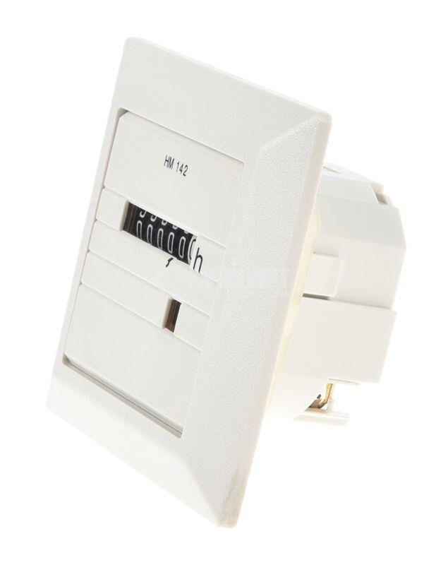 Electromechanical Hour Counter , HM142, 10-80 VDC, 0-99 999.99 h - 2
