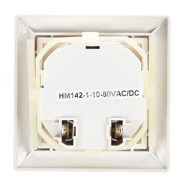Electromechanical Hour Counter , HM142, 10-80 VDC, 0-99 999.99 h - 3