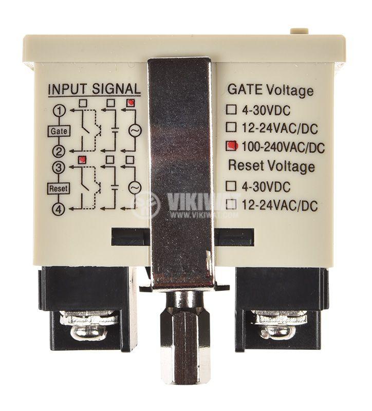 Digital Hour Counter, ASC3L-6, 110/220VAC/DC, 99 h 59 min 59 s   - 5