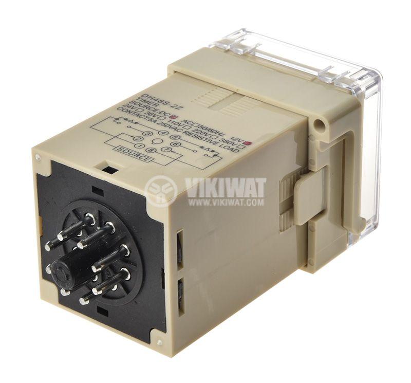Time Delay Relay, DH48S-2Z, 12 VDC, NO + NC, 250 VAC, 5 A, 0.01 s and 99 h - 2