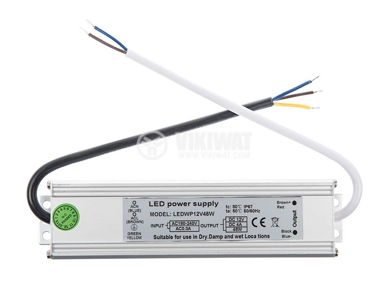 LED power supply VSP20-12, 12VDC, 1.65A, 20W, waterproof - 3