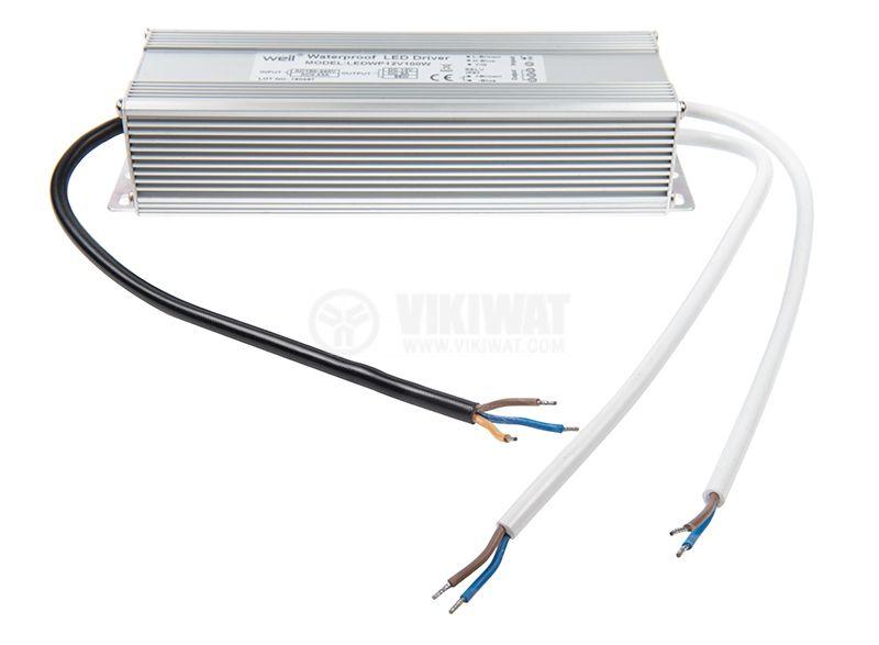 LED power supply LEDWP12V100W, 12VDC, 8.3A, 100W, IP67 - 2