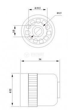Цокъл за реле US11 300VAC 10А 11pin - 2