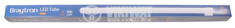 LED тръба 600mm, 9W, T8, 220V, 3000K, топло бяла, BA52-00680 - 2