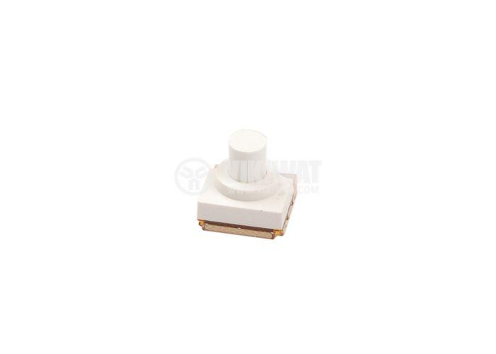 Микробутон, SMD-N=33N-50, 50V, 0.05A 3PST, 3NO, незадържащ, бял, 5 mm