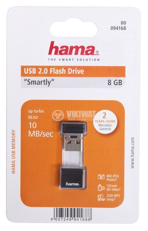 FLASH MEMORY hama, 8GB, USB 2.0