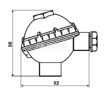 Термодвойка тип K, 0°C -1100°C, Ф20 mm, дължина 200 mm  - 5