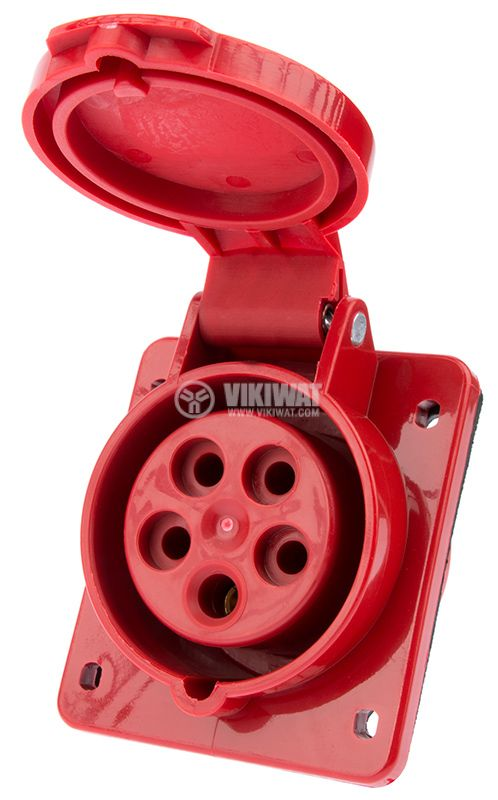 Industrial power socket, ST-415, 3P+N+E, 220-415VAC, 3x16A - 1