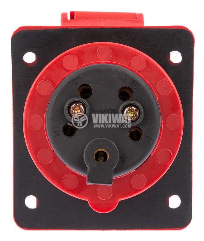 Industrial power socket, ST-415, 3P+N+E, 220-415VAC, 3x16A - 3