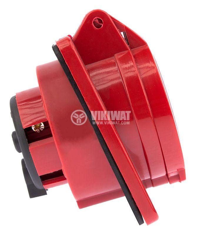 Industrial power socket, ST-415, 3P+N+E, 220-415VAC, 3x16A - 4