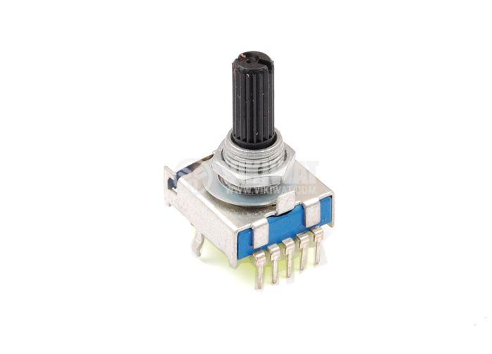 Ротационен превключвател (Галета) SRP-8 - за печатен монтаж, 8 положения, 10 крачета , 17x19x31mm, пластмаса