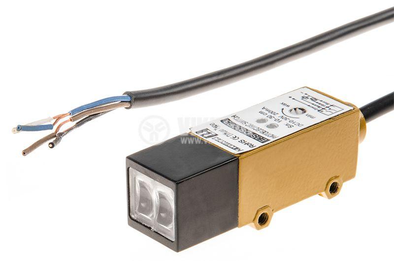 Оптичен датчик дифузен PNP NO+NC E3S-DS30 P3 10-30VDC обхват 100-300mm - 2