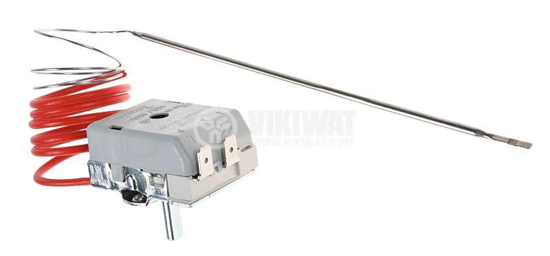 Capillary thermostat, RT8804, +50 °C +190 °C, NC, 16 A / 250 VAC - 1