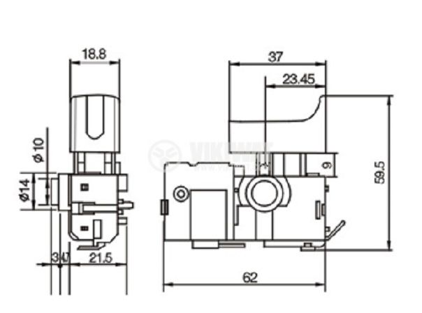 Електрически прекъсвач, регулатор на обороти 4A/250VAC - 3